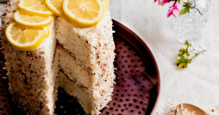 Toasted Coconut Cake with Lemon Curd Filling