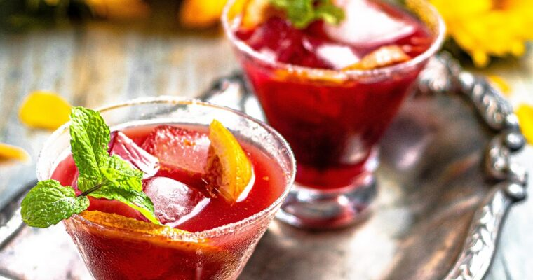 Blood Orange Pomegranate Cadillac Margarita
