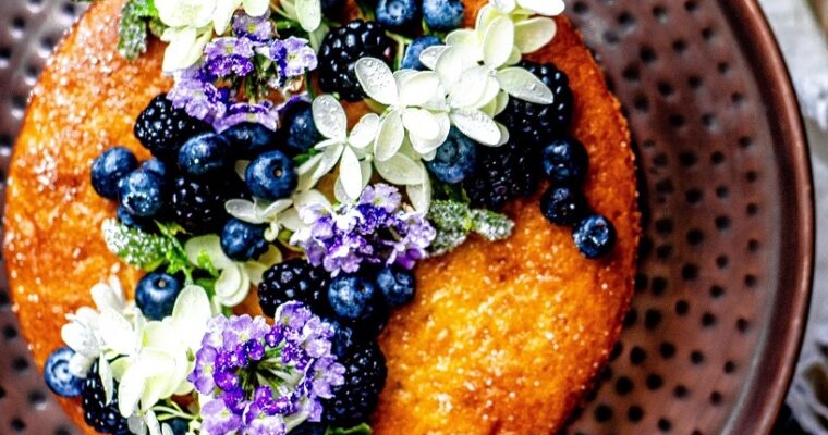 Blue/Black Berry Lemon Olive Oil Cake