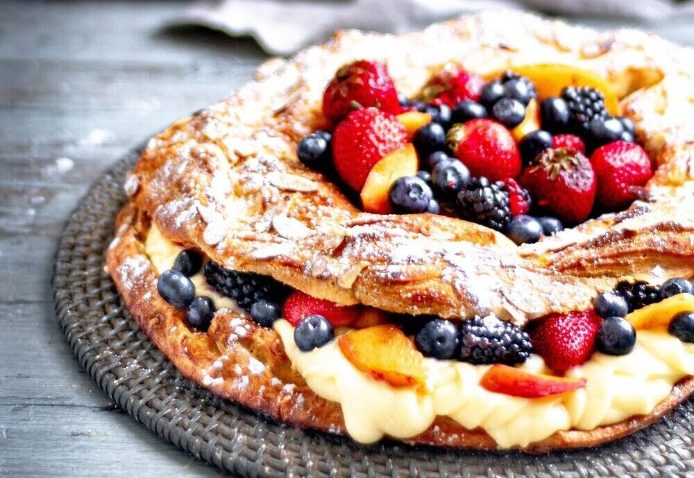 Paris-Brest with Summer Fruits and Creme Moussaline